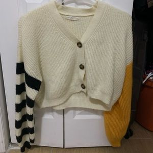 truly madly deeply piper balloon sleeve cardigan